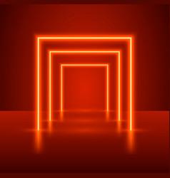 Neon show light podium vector