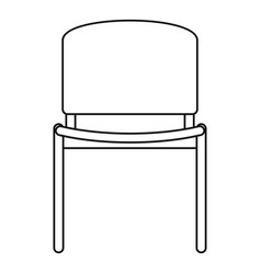 Office chair icon outline style vector