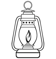 Old Dusty Oil Lamp Royalty Free Vector Image