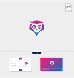 owl concept creative logo template and business vector image