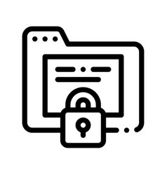 Padlock site coding system thin line icon vector