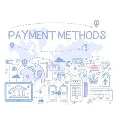 Payment Methods Infographics vector