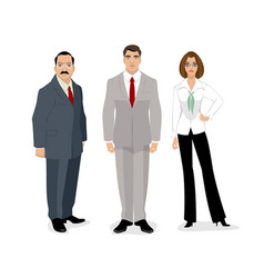 portrait of three people vector image