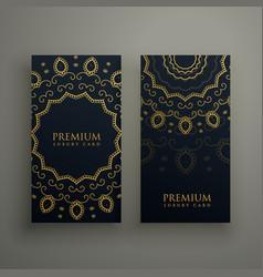 Premium mandala decoration banners or card design vector