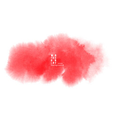 red watercolor texture background vector image
