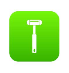 Reflex hammer icon digital green vector