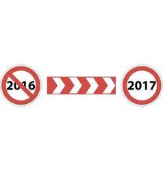 Road sign beginning 2017 vector