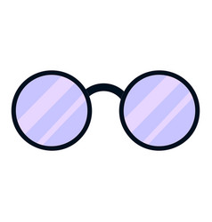 round glasses icon cartoon style vector image