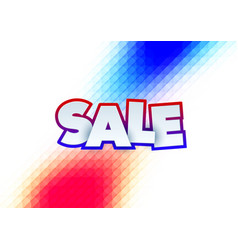 sale abstract banner template design on soft vector image