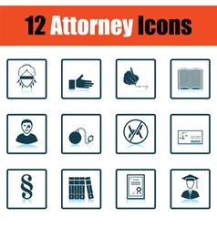 Set of attorney icons vector