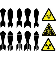 Set of bombs vector