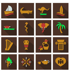 Set of images on the theme of ancient greece they vector