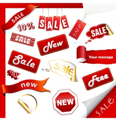 Set of sale icons labels stickers vector image vector image