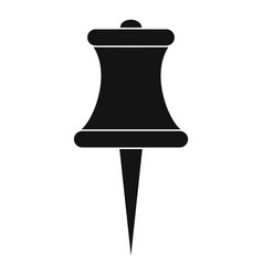 sharp pin icon simple style vector image