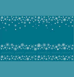 Snowy set winter snowflakes seamless patterns vector