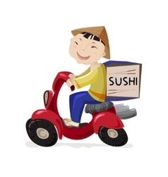 Sushi delivery concept vector