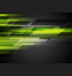 Tech dark background with green glowing light vector