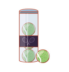 tennis ball in bottle icon vector image