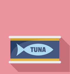 tuna tin can icon flat style vector image