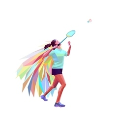 Unusual colorful triangle athlete Geometric vector image