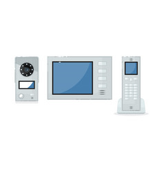 Video intercom item isolated on white background vector