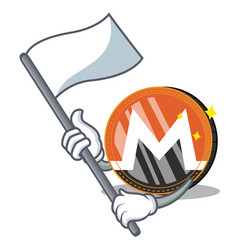 With flag monero coin character cartoon vector