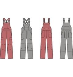 Work overalls set vector image