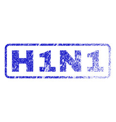 h1n1 rubber stamp vector image