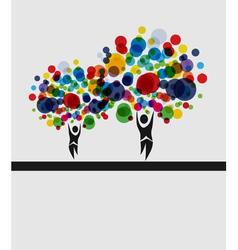 human tree invitation vector image