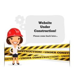 Website Under Construction Message vector image vector image