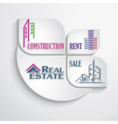 Modern concept for real estate business vector image