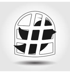 Flying bird icon isolated vector image