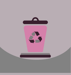 Garbage waste recycling line art thin icons vector