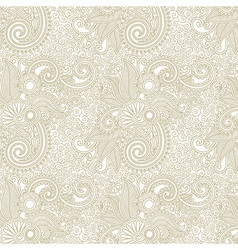 hand draw ornate floral vintage seamless pattern vector image