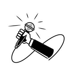 hand held microphone vector image
