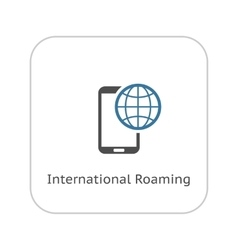 International Roaming Icon Flat Design vector image vector image
