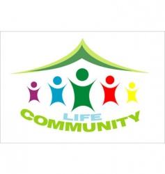 life community symbol vector image