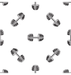 Metallic Dumbell Seamless Sport Background vector image