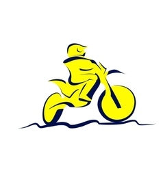 Motocross icon vector image vector image