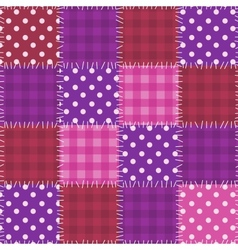 Seamless pink patchwork pattern vector image vector image