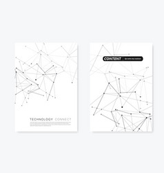 2 cover templates for brochure in a4 size vector image