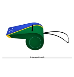 A Beautiful Whistle of Solomon Islands Flag vector