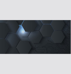 Abstract hexagonal background 3d futuristic vector