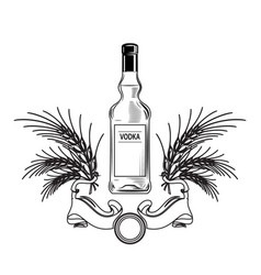 alcohol bottle vodka drink drinking cocktail bar vector image