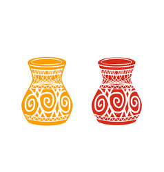 Ancient tribal pottery shop icon vector