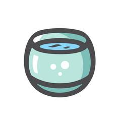 aquarium with clean water cartoon vector image