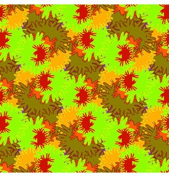 Autumn red and orange leaves carved seamless vector image