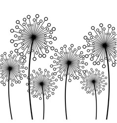 Background with decorative flower dandelion vector