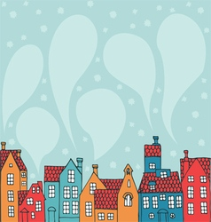 background with houses vector image