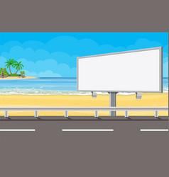Billboard on road vector